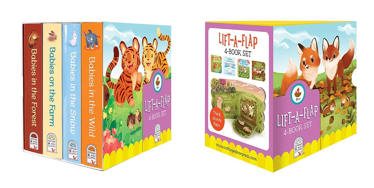 Animal Babies Lift-a-Flap Boxed Set 4-Pack: Babies on the Farm, Babies in the Forest, Babies in the Snow, Babies in the Wild (Chunky Lift a Flap)