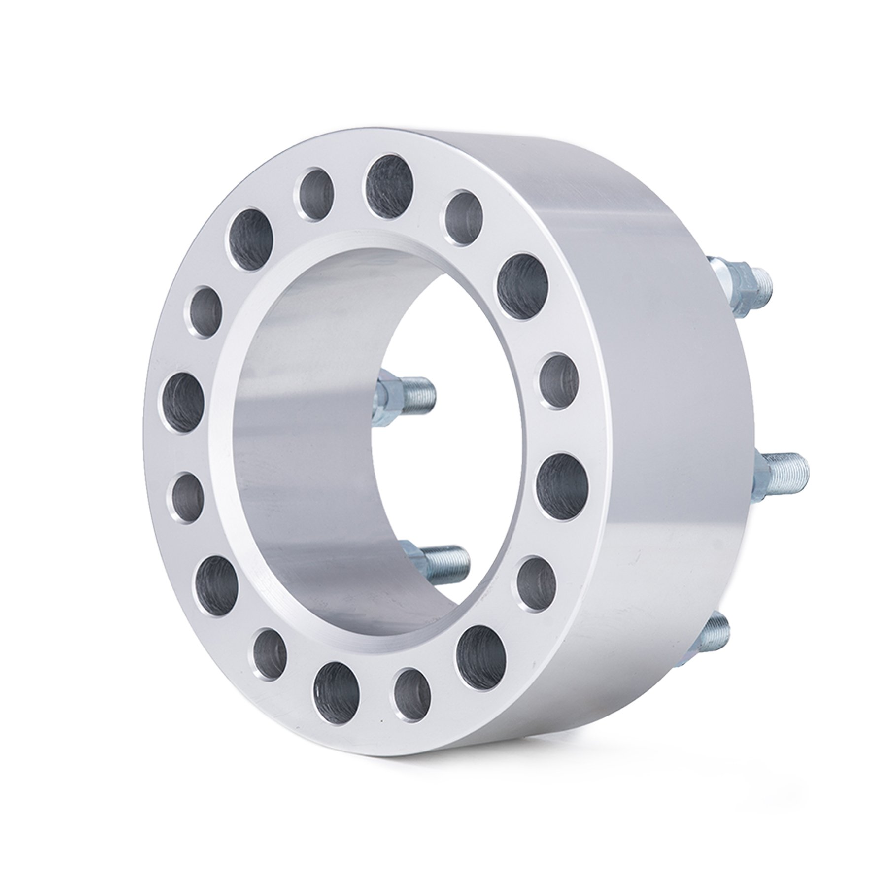 Orion Motor Tech 4pcs 3'' Wheel Spacers 8x6.5 with 9/16-18 Studs for 94-11 Dodge Ram 2500 3500, 88-98 Ford F250 F350, Ford Econoline 250 350 by OrionMotorTech (Image #2)