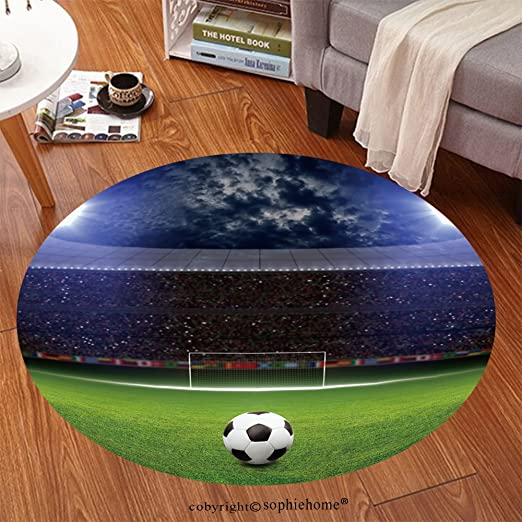 sophiehome suave alfombra 152667281 estadio de fútbol, balón de ...
