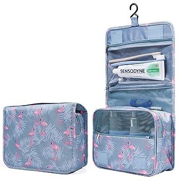 14597dcb756b Mens Toiletry Travel Bag, Large Portable Hanging Cosmetic Bag Waterproof  Makeup Brush Bag Makeup...