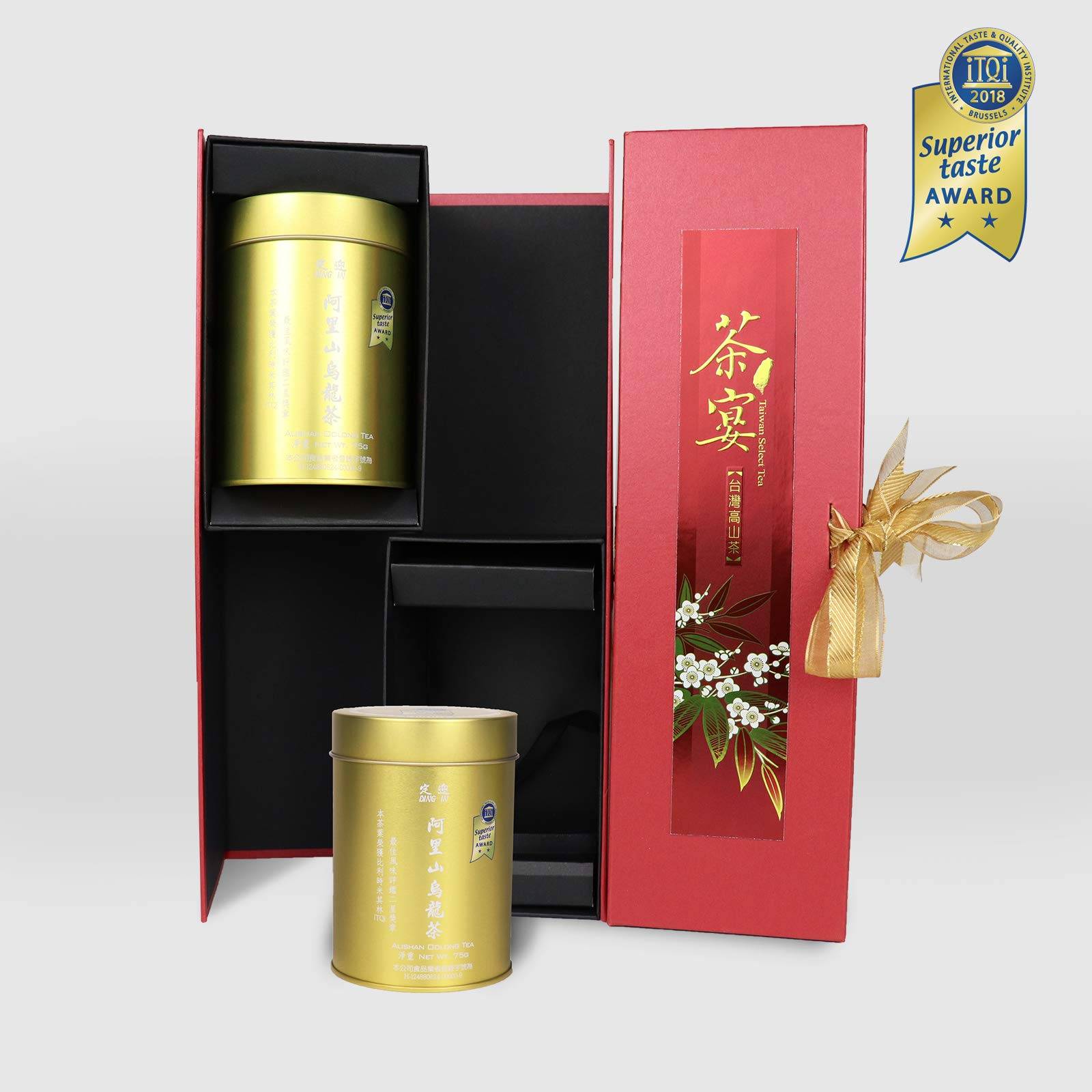 DING IN Alishan Oolong Tea Feast Straight Gift Box 75g/2cans by Ding In ltd. (Image #1)