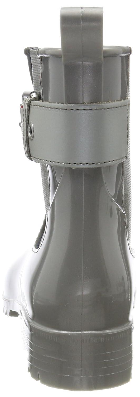 Tommy Damen Hilfiger Damen Tommy O1285xley 14v3 Gummistiefel Grau (Silver) 1b3702