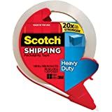 Heavy Duty Shipping Packaging Tape with Refillable Dispenser, 1.88 in x 54.6 yd 2-Pack