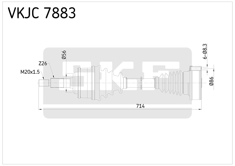SKF VKJC 7883 Antriebswelle