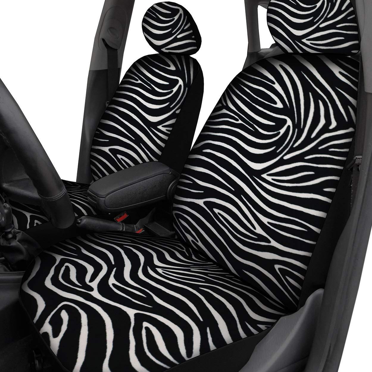 Saferide Set Completo di coprisedili universali per Auto Motivo zebrato