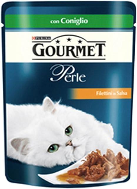 6 x Purina Gourmet Le Perlas comida para gatos Conejo 85 gr ...