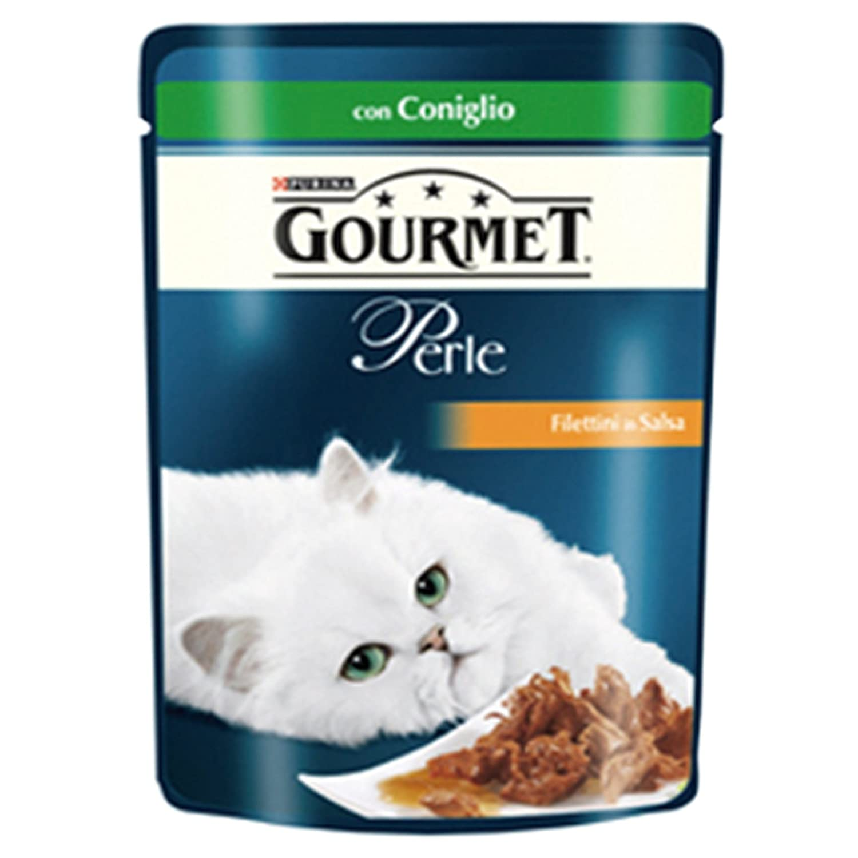 12 x Purina Gourmet Le Perlas comida para gatos Conejo 85 gr filettini Croccantini: Amazon.es: Productos para mascotas