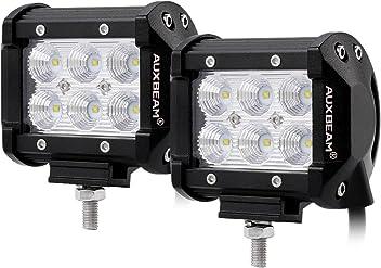 2 Stk Auxbeam 2 x 4 18W 19 3030 LED 1800lm IP67 Arbeitsscheinwerfer 10-30V 30 Grad 60 Grad flood Offroad Scheinwerfer Flutlicht