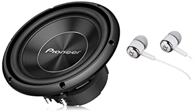 Pioneer TS-A250D4 10 Inch 1300 Watts Max Power Dual 4-Ohm Voice Coil A Series Car Audio Stereo Subwoofer Loudspeakers