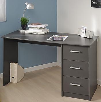 Schreibtisch Grau B 121 Cm PC Computertisch Kinderschreibtisch  Jugendschreibtisch Bürotisch Jugendzimmer Kinderzimmer Jugendmöbel24.de