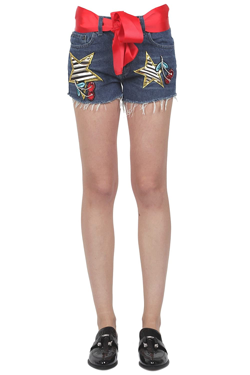 5 PROGRESS Women's 310268096 Blue Cotton Shorts