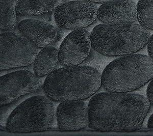 khevga alfombra de baño, diseño de piedra, gris oscuro 1 pieza