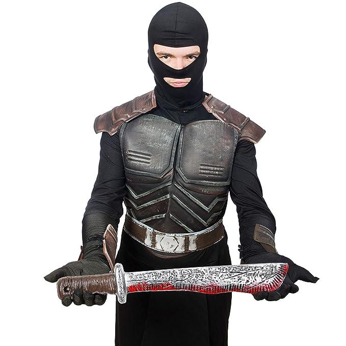 Amazon.com: Skeleteen Bloody Machete Costume Prop - Falso ...
