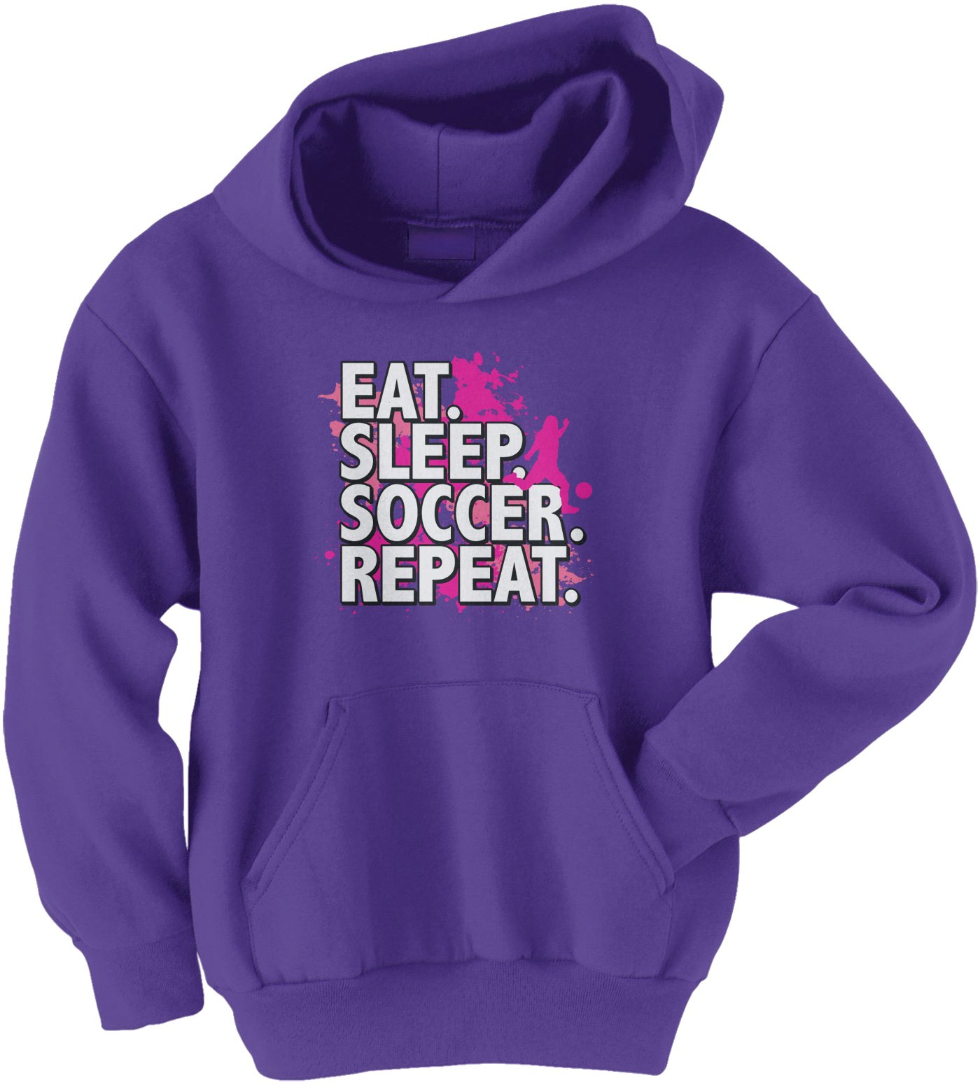 Threadrock Big Girls Soccer Player Heart Love Youth Hoodie Sweatshirt
