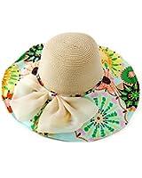 Beach Hats for Women Floppy,Wide Brim Foldable Straw Sun Hat