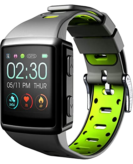 Cellularline Easysport GPS Reloj Inteligente Negro GPS (satélite) - Relojes Inteligentes (Pantalla táctil
