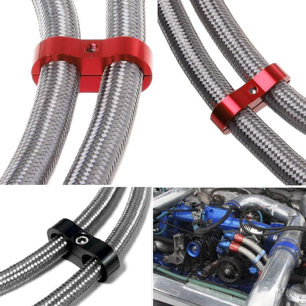 RONSHIN Parte Automatica in Acciaio Inox Intrecciato Olio//Tubo di Alimentazione//Tubo Flessibile Raccordo//estremit/¨/¤ Tubo//Kit Adattatore AN10