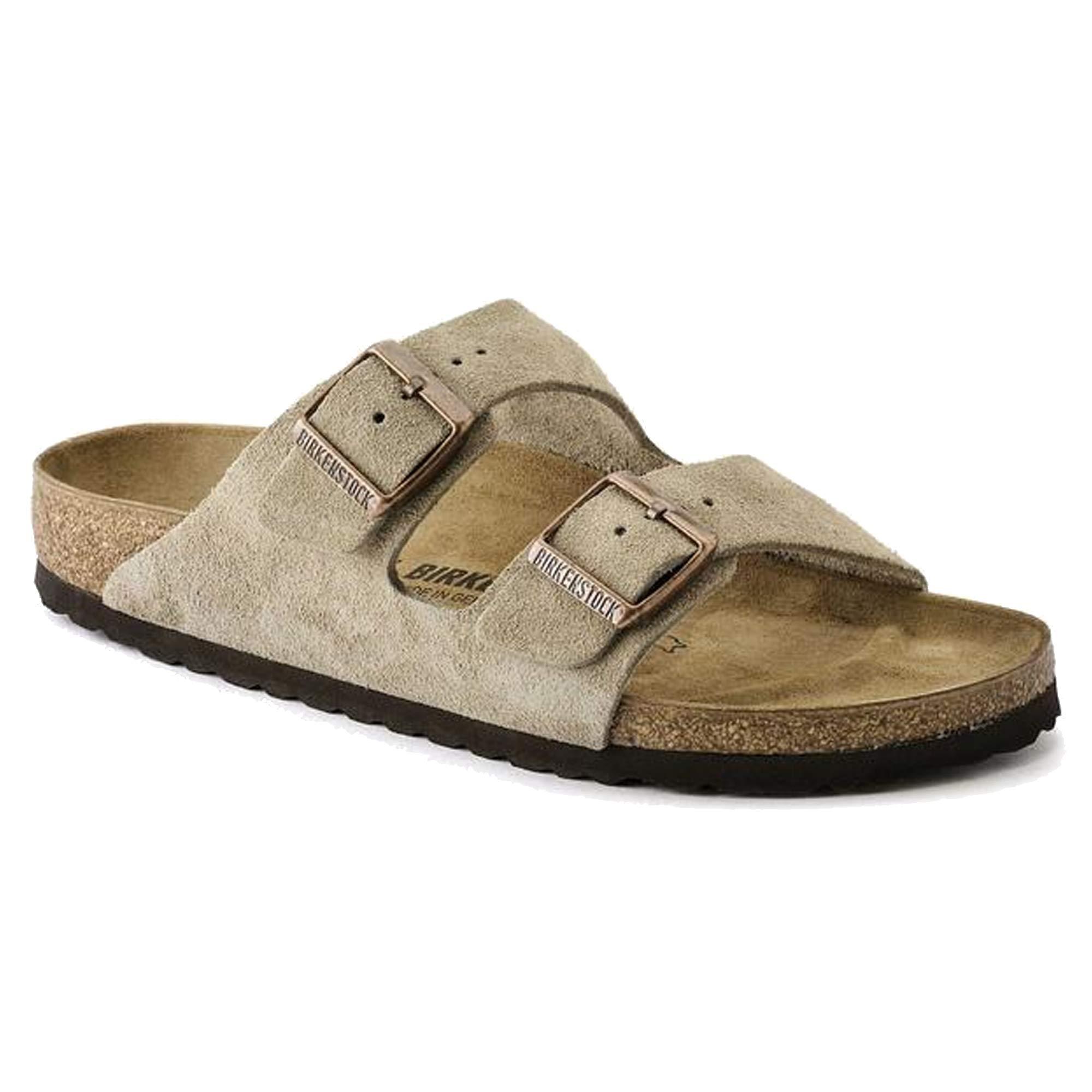 Birkenstock Unisex Arizona Taupe Suede Sandals - 42 M EU / 11-11.5 B(M) US