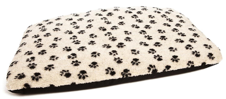 Paw Print Beige Medium 105 X 70 X 9 Paw Print Beige Medium 105 X 70 X 9 P&L Superior Pet Beds Ltd Duvets Sherpa Fleece, Medium, Paw Print Beige