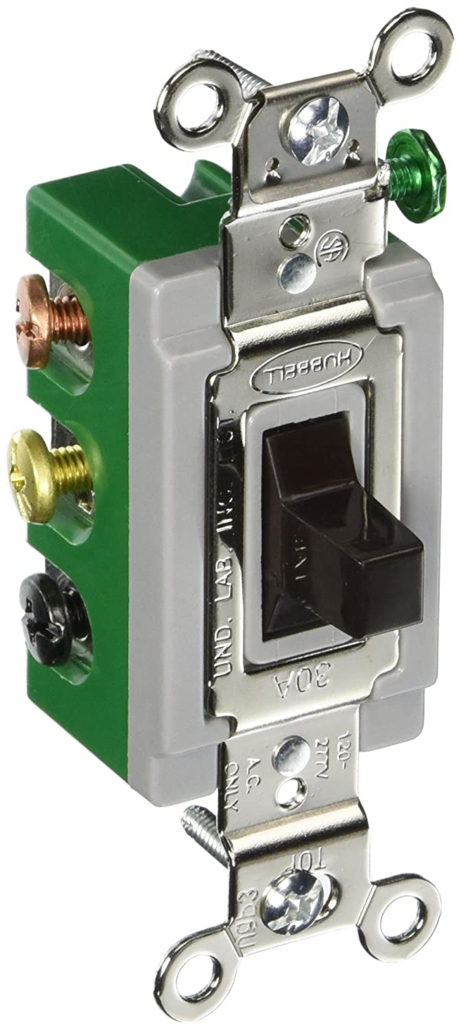 Hubbell Hbl1388 Toggle Double Pole Throw Center Off 30 Amp Single Switch Wiring Diagram For 277v 120 Brown Industrial Scientific