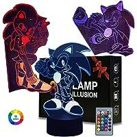 3 stuks nachtlampjes, 3D Anime tafellamp met afstandsbediening, kinderkamerdecoratie, creatieve verlichting voor…
