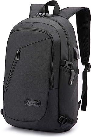 Mens Backpack for Work Travel Backpacks Slim Anti-theft  USB Charging Laptop Bag