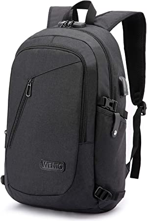 Laptop Backpack,Business Travel Anti Theft Backpack Gift for Men Women with USB Charging Port Lock,Slim Durable Water Resistant College School Bookbag Computer Bag Fits 15.6 Inch Laptop Notebook