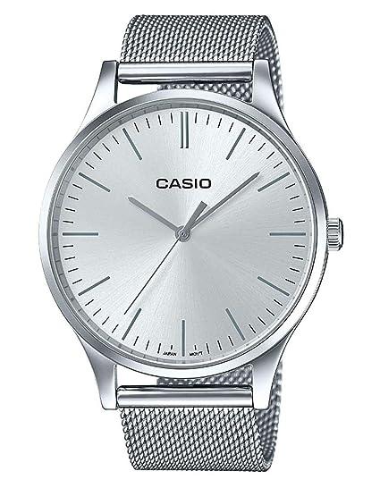 Casio Reloj Analogico para Unisex de Cuarzo con Correa en Acero Inoxidable LTP-E140D-7AEF: Amazon.es: Relojes