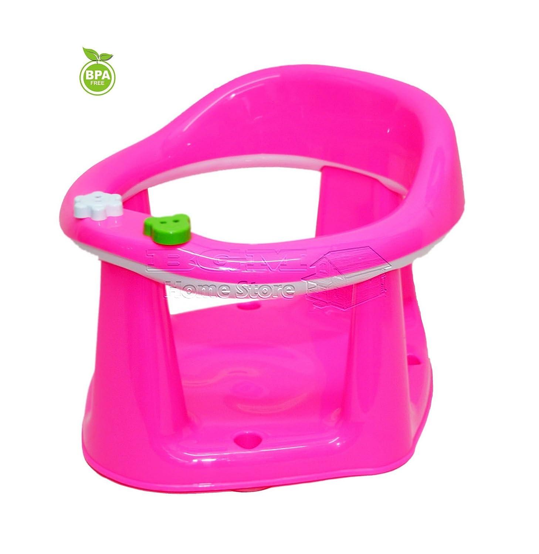 Baby Toddler Child Bath Support Seat BPA FREE Safety Bathing Safe Dinning Play 3 In 1 PINK MWR (PINK) dunya Plastik
