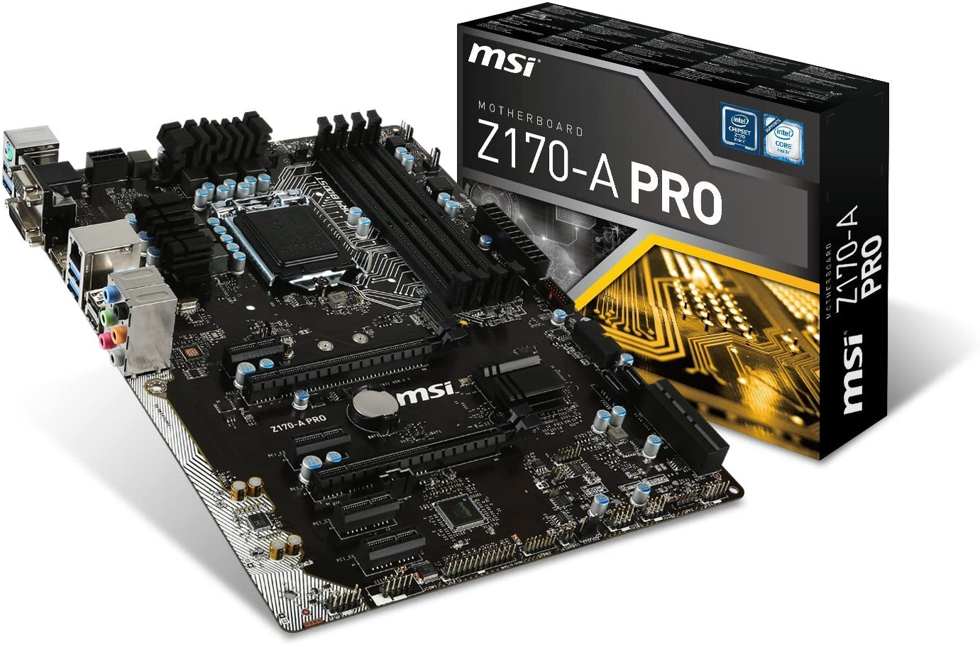 MSI Pro Solution Intel Z170ALGA 1151 DDR4 USB 3.1 ATX Motherboard (Z170-A Pro)
