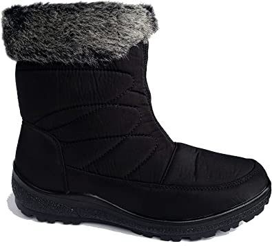 UK Mens Winter Warm Snow Boots Women Casual Shoes Thermal Slippers Fashion Size