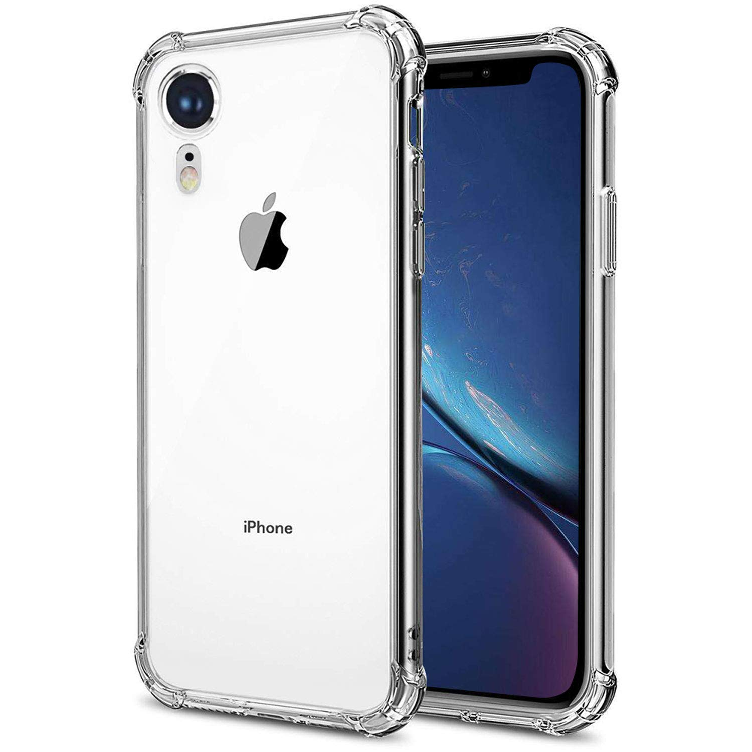SLKYLLH Compatible iPhone XR Case, [Shock Absorption][Crystal Clear] Soft TPU Bumper Slim Protective Case Cover Scratch-Resistant with 4 Corners Protection for Apple iPhone XR 6.1 inch 2018 (Clear)