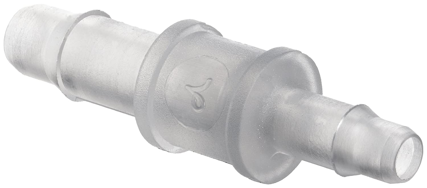 400 Series Barbs Polypropylene Value Plastics Straight Thru Reduce Connector 1//8 Pack of 10 3//32ID Tube