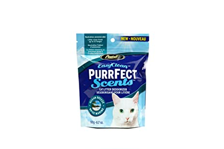 easy clean purrfect scents ocean breeze scented cat litter box deodorizer 67ounce