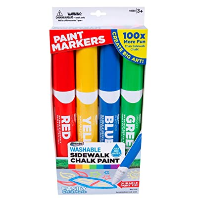 RoseArt Sidewalk Chalk Paint Markers: Toys & Games