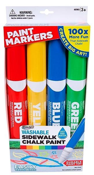 RoseArt Sidewalk Chalk Paint Jumbo Markers Set 4ct Mattel CXX77