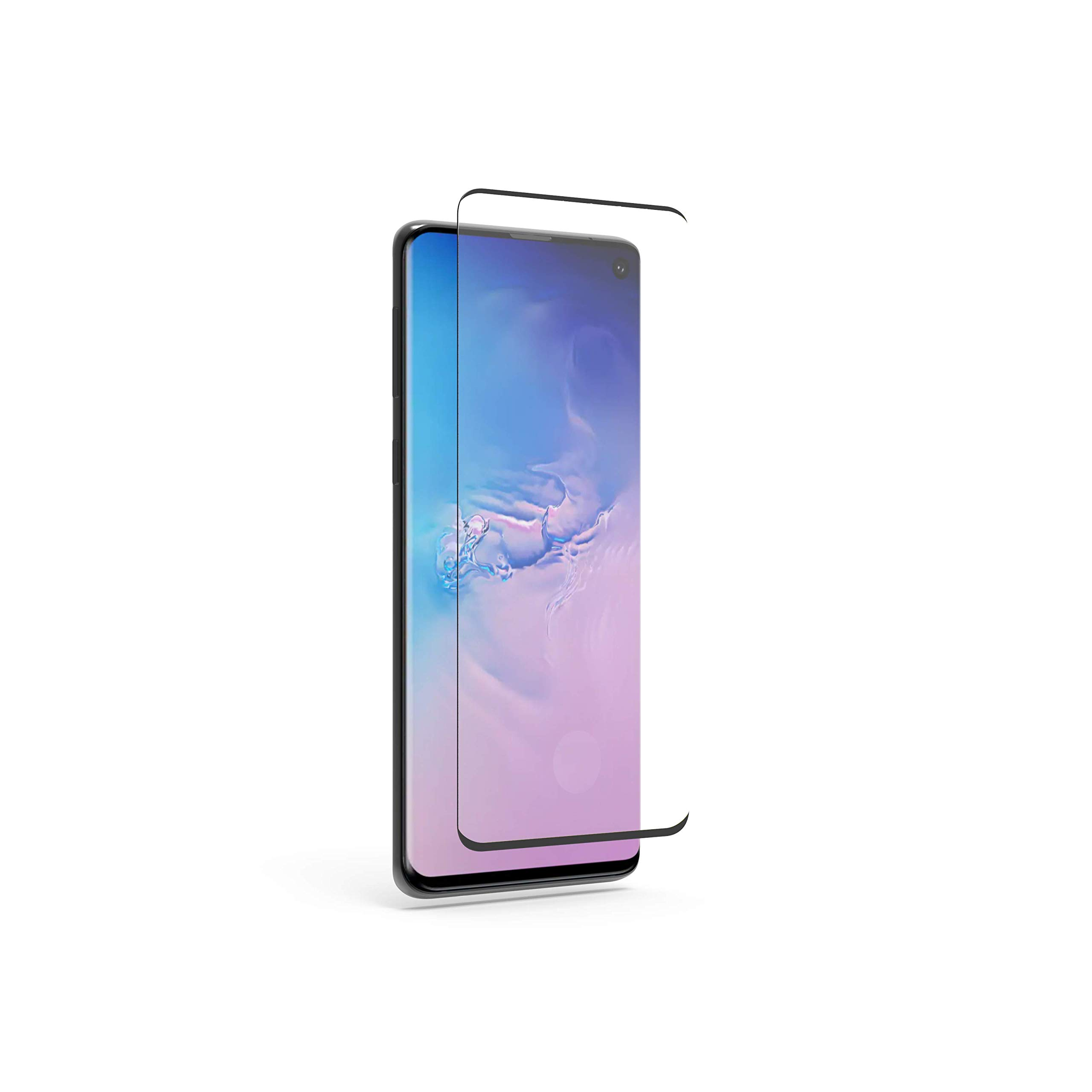 PureGear for Samsung Galaxy S10 Tempered Glass Screen Protector with Fingerprint Sensor Ready Cutout, Self Alignment Tray, Touch and Swipe Precision, Premium Protection Guard, Case Friendly by PureGear