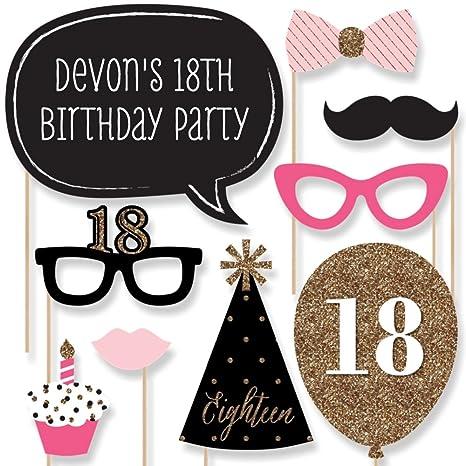 Amazoncom Big Dot Of Happiness Custom Chic 18th Birthday Pink