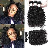 shuangya hair 7A Grade Malaysian Virgin Hair Wet and Wavy Human Hair Bundles 100% Natural Human Hair Water Wave Pack of 3