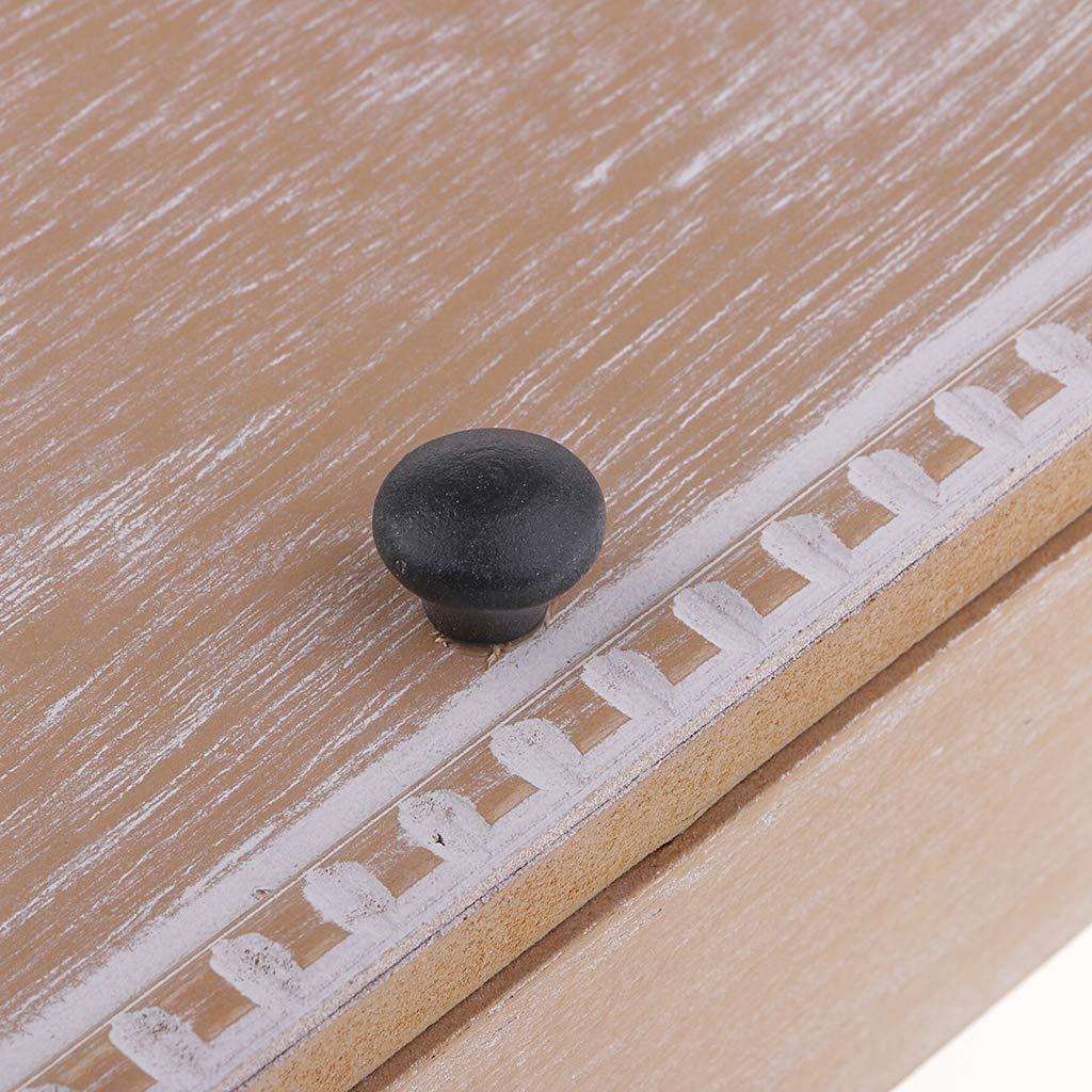 P Prettyia Wandhalterung aus Holz Vintage-Wandhalterung oder selbststehender Schl/üsselkasten mit 6 Haken f/ür Schl/üssel b