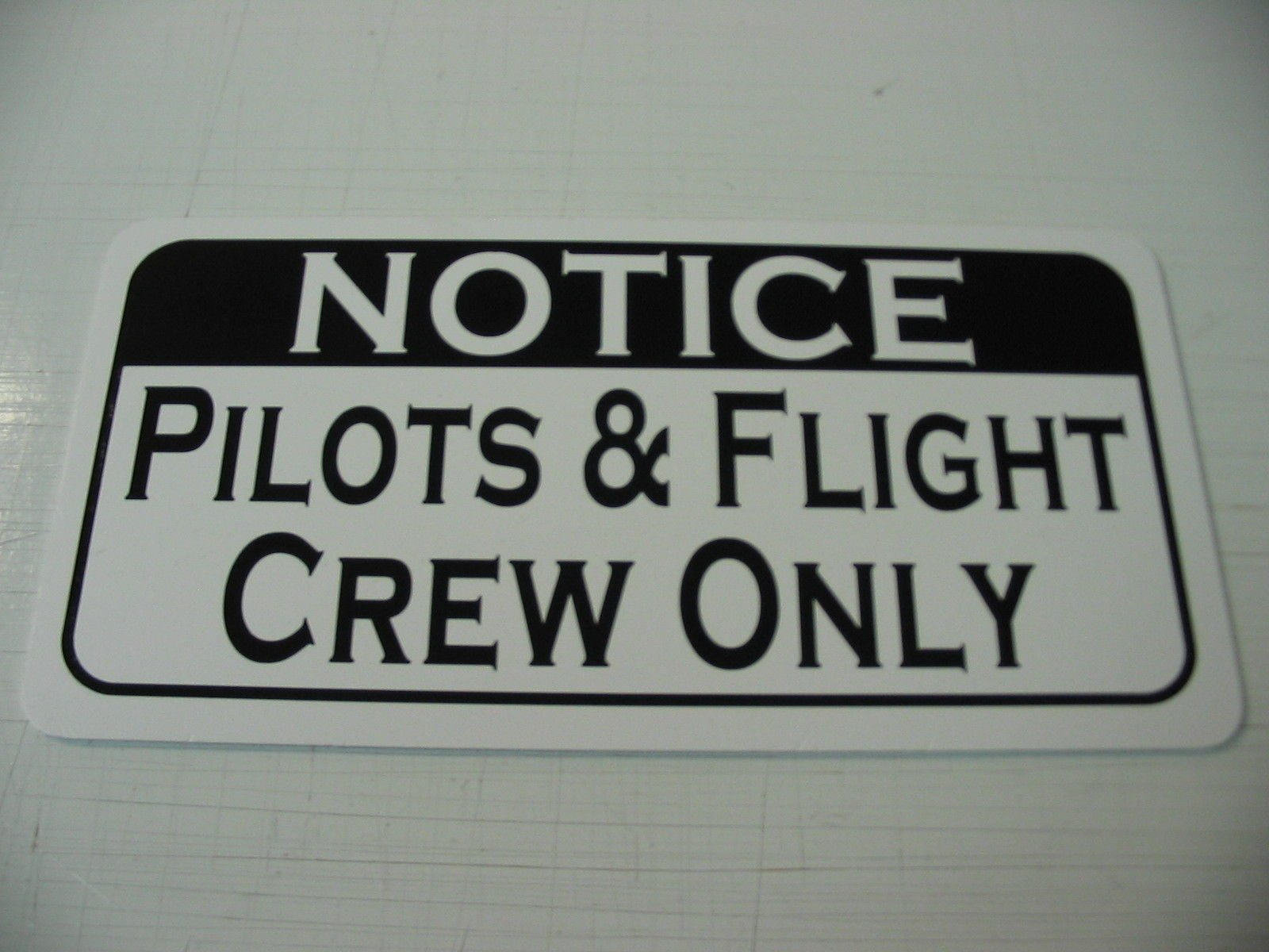 PILOTS & FLIGHT CREW ONLY Vintage Retro Art Deco Style Metal Sign for Airport Air Plane Hangar Hotel Motel Bar or Restaurant Highway Motel HWY Gas Service Station