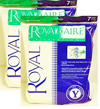 2 VACUUM PAPER BAGS ROYAL Y CR50005 COMMERCIAL UPRIGHT,AR10145