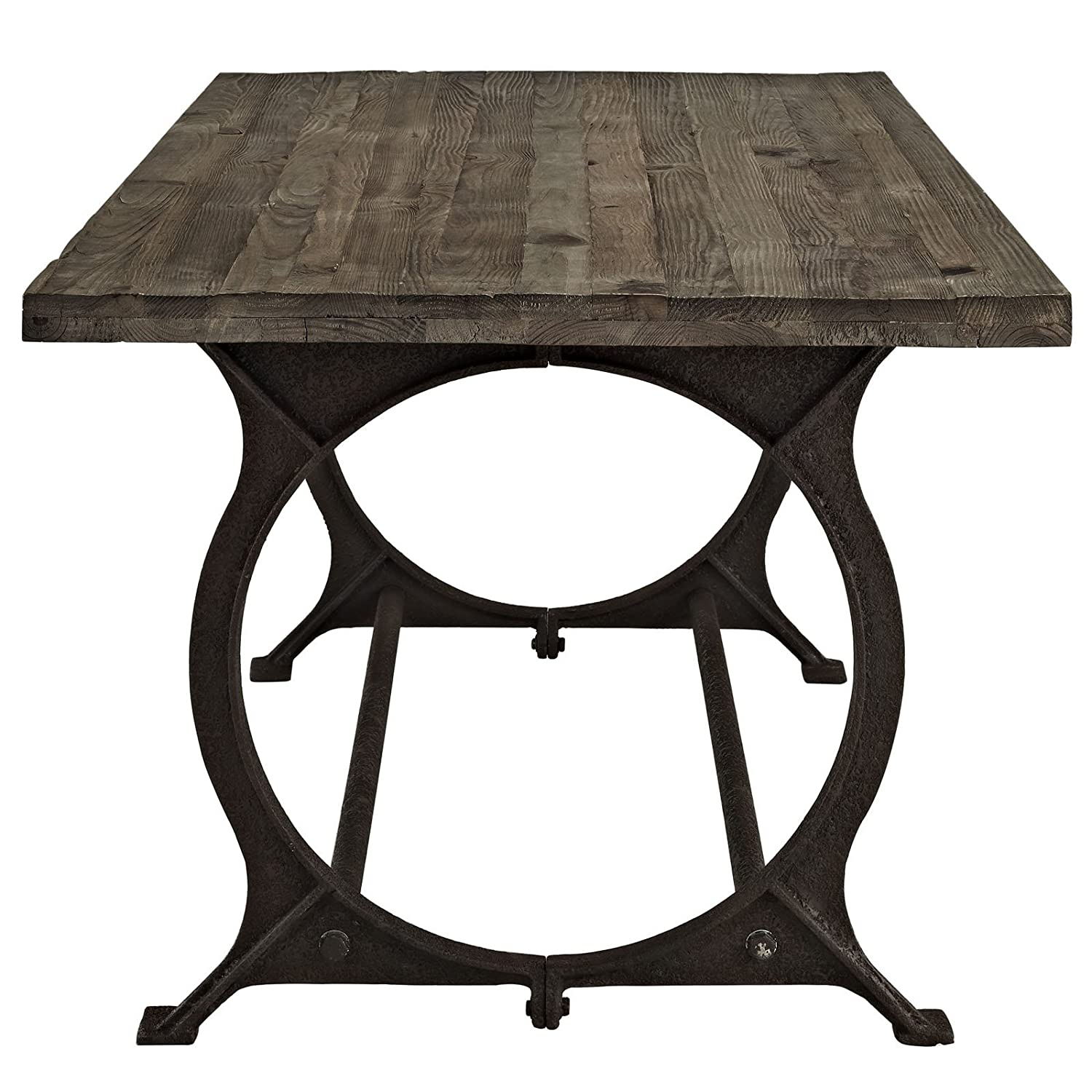 Amazon Modway Effuse Wood Top Dining Table in Brown Tables