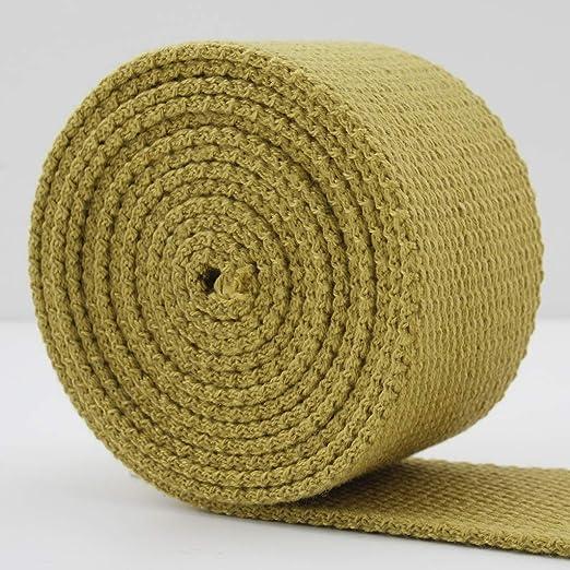 1,5 pulgadas (38 mm) luz oro peso poliéster correas de algodón ...