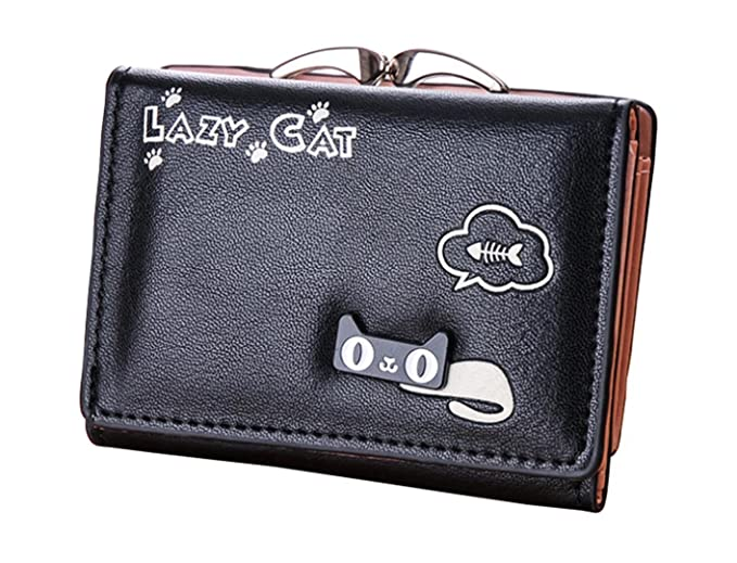 f83e07dc3a65 Amazon.com: Aulens 6 Color Small Wallet For Women With Metal Frame ...