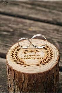 AerWo - Caja de madera para anillos de boda, diseño rústico ...