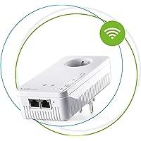 devolo 8376 Magic 2 WiFi: adaptateur CPL fantastique avec fonction WiFi, WiFi ac jusqu'à 2400 Mbits/s, 2 ports Ethernet Gigabit, prise de courant intégrée, point d'accès WiFi Mesh, blanc