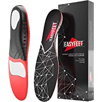 Plantar Fasciitis Arch Support Insoles for Men and Women Shoe Inserts - Shoe insoles women - Flat Feet - Running Athletic Gel Shoe Insoles (L: m 10-12 w 11-13)