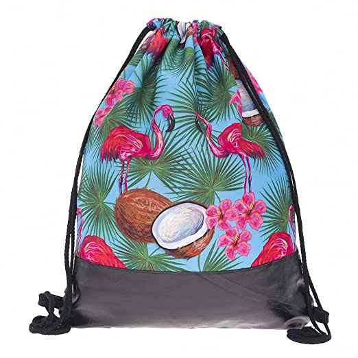 Amazon.com | Coconut Flamingo Tropical Leather Bottom ...
