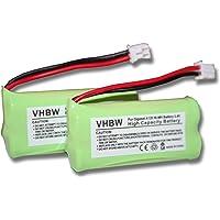 2 x Ni-MH batteriuppsättning 700 mAh (2,4 V) för Siemens Gigaset A120, A140 etc. & UNIVERSUM CL15, SL15 ersätter V30145…